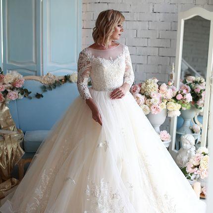Платье пышное прокат А1601