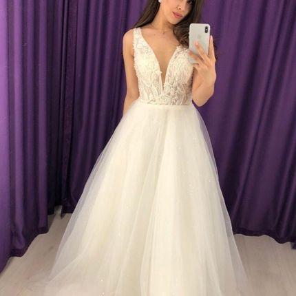 Свадебное платье со шлейфом А1611