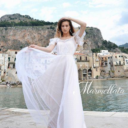 Платье со шлейфом А1671