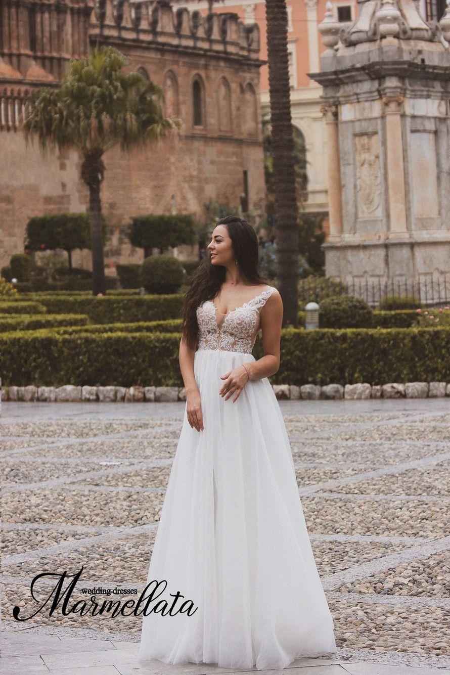 Свадебное платье длинное А1714