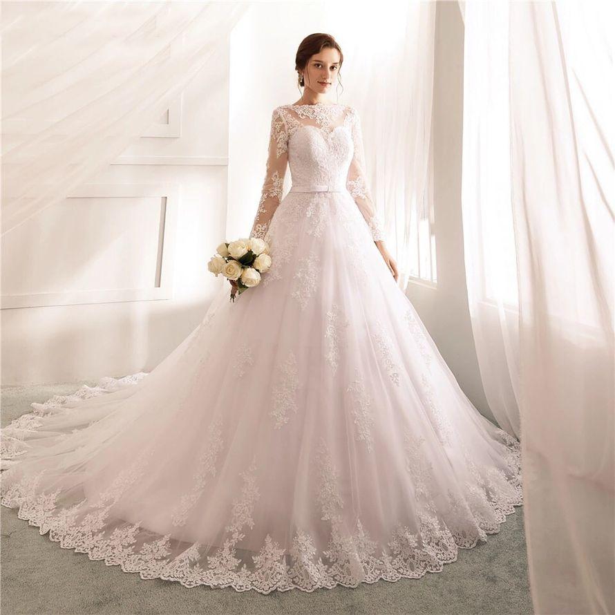 Платье со шлейфом А1688 прокат