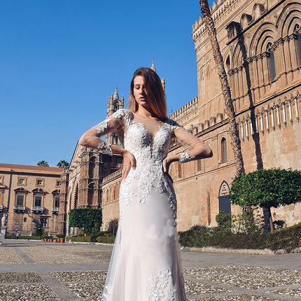 Свадебное платье со шлейфом А1712