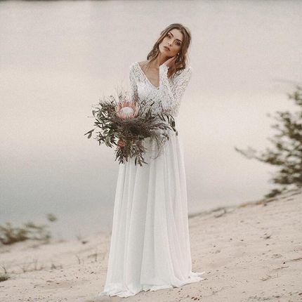 Платье со шлейфом А1749