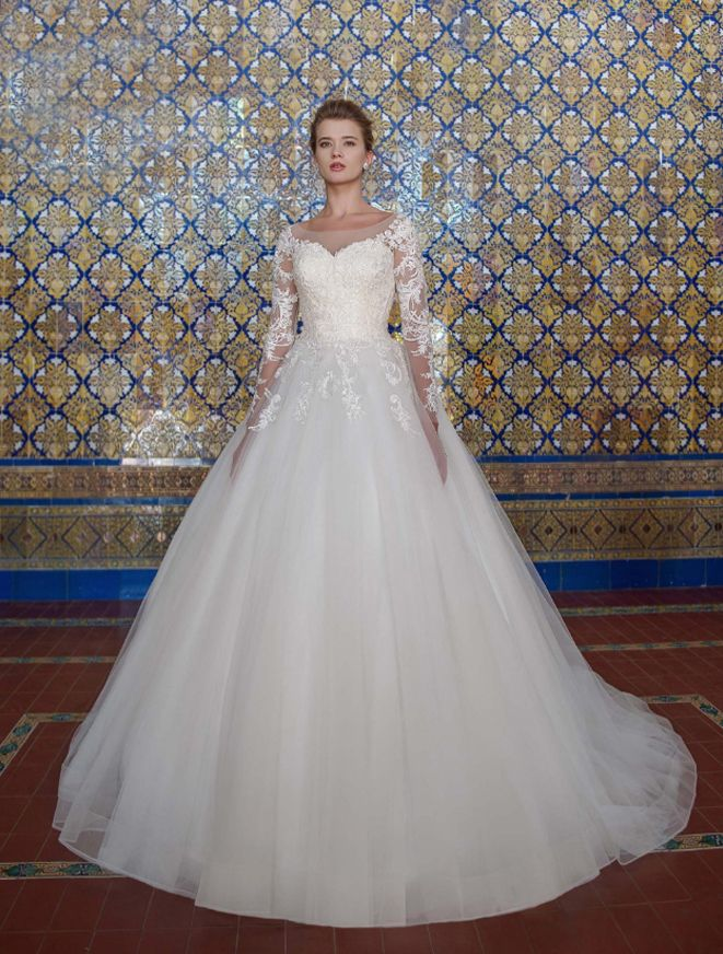 Платье со шлейфом А1755