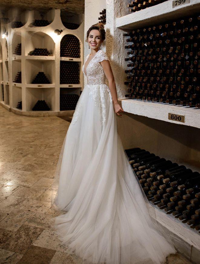 Платье со шлейфом А1761