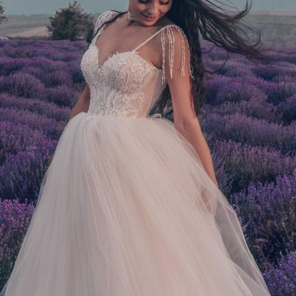 Платье на бретелях А1877