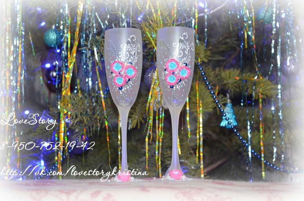 """Свадебные бокалы """"Рассветное небо"""" - фото 4422855 Студия аксессуаров Кристины Тишковой"""