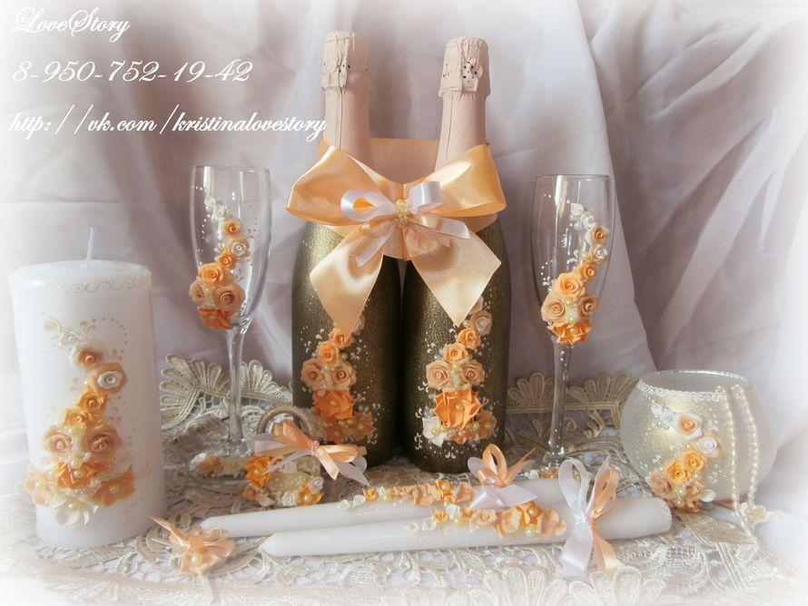 """Набор свадебных аксессуаров """"Аромат"""" в персиковом цвете - фото 4423505 Студия аксессуаров Кристины Тишковой"""