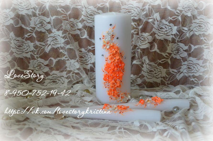 """Свечи из набора """"Магия"""" в апельсиновом цвете - фото 4425715 Студия аксессуаров Кристины Тишковой"""