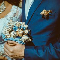 Букет невесты из ракушек