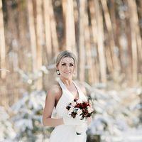 свадебная прогулка зимой, портрет невесты