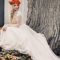 портрет невесты, осень, венок из рябины