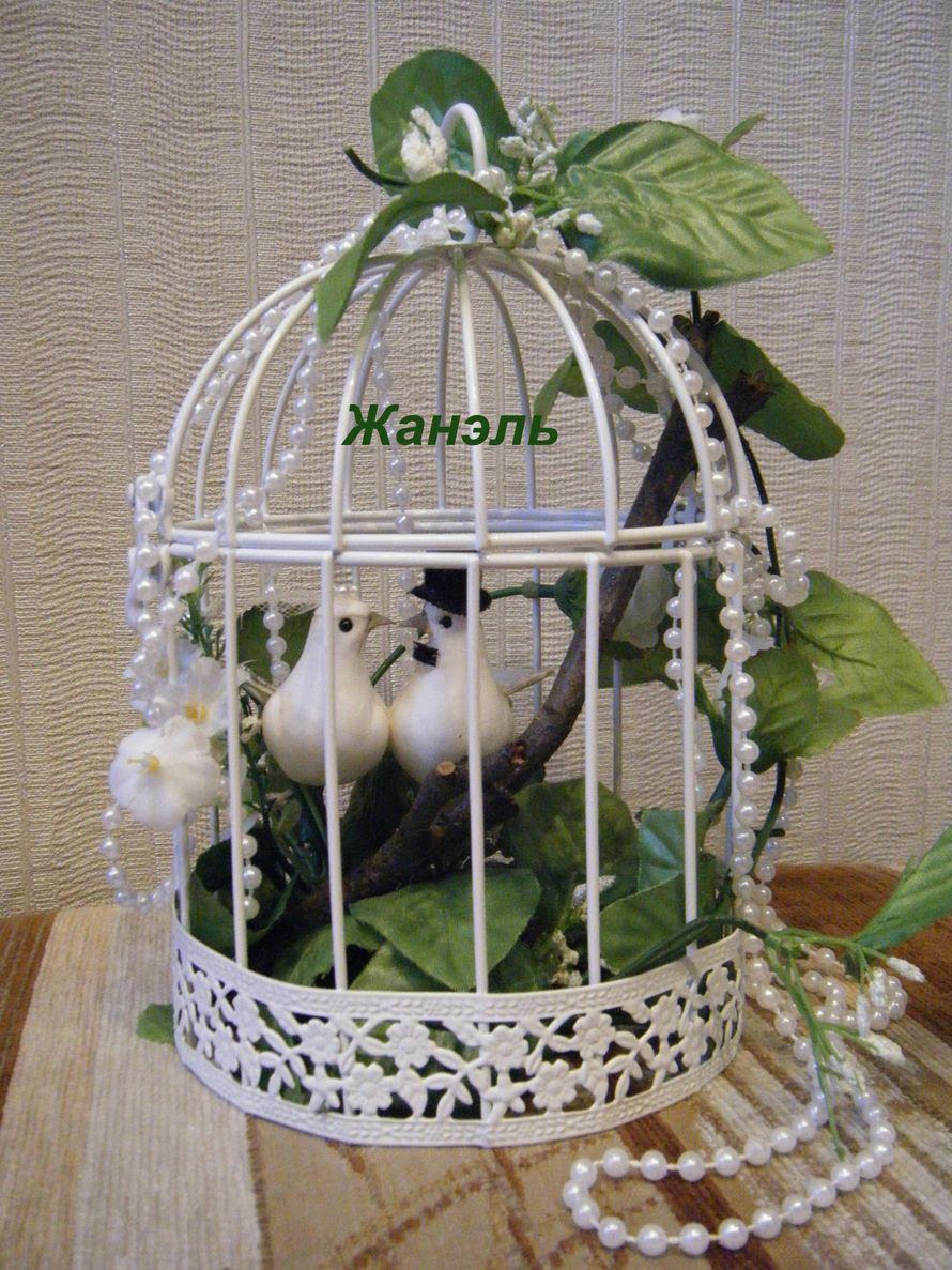 клетка с птичками для декора - фото 4617435 Жанэль - студия свадебного декора и услуг