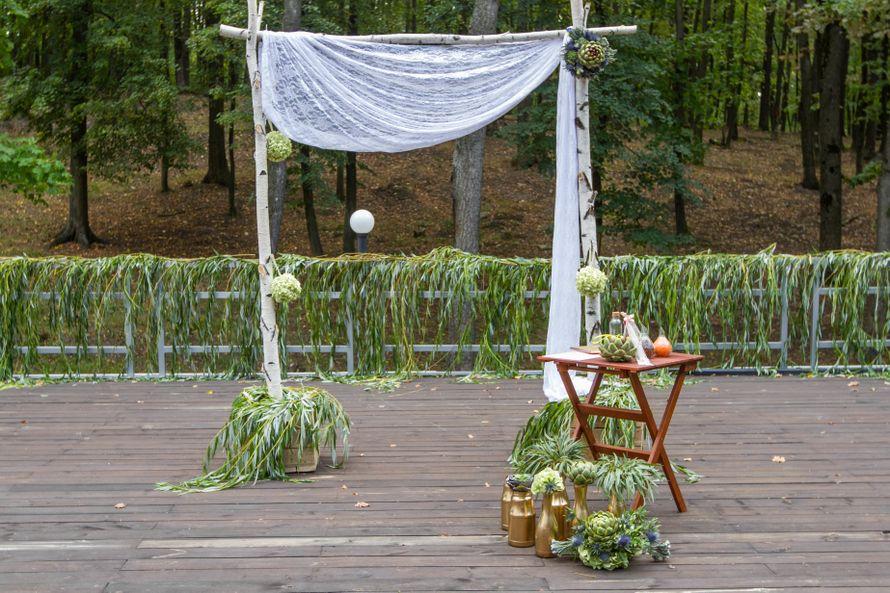Выездная церемония росписи в стиле rustik - фото 3311561 DIAMANTE-deco студия свадебного дизайна
