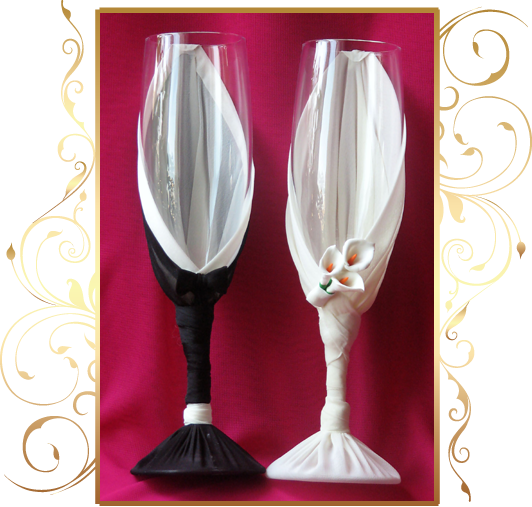 Фото 809983 в коллекции Свадебные бокалы, шампанское, подушечки для колец - Кнауб Ольга - Свадебные аксессуары