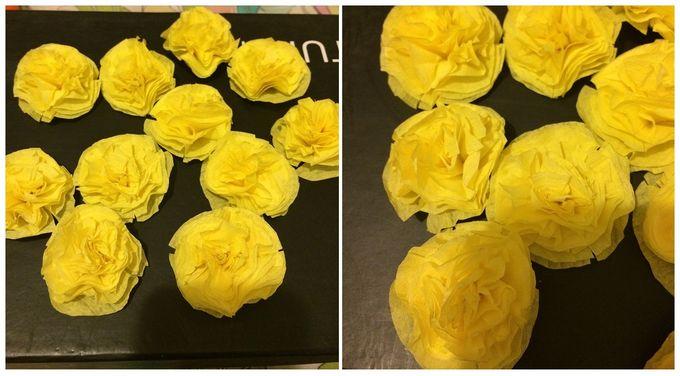Гирлянда из бумажных цветов - 2