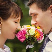красивый букет невесты. ВДНХ