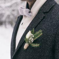 свадьба, зима, ель, эко, хвоя, ель, рустик, варежки, вязаный,