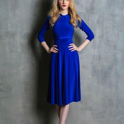 Платье-трансформер миди с рукавом