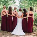 Подружки невесты в цвете Бордовый(Марсала) Свадьба в г. Нижний Тагил