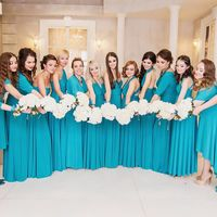 Подружки невесты в цвете Бирюзовый Свадьба в г.Челябинск