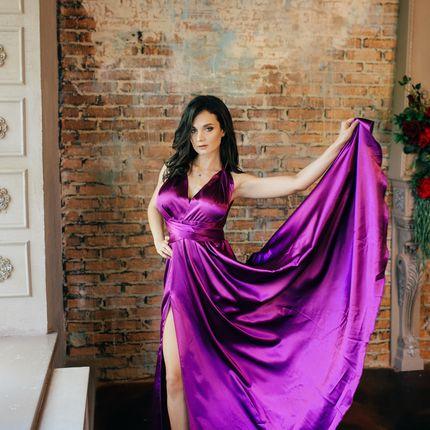 Атласное платье - трансформер
