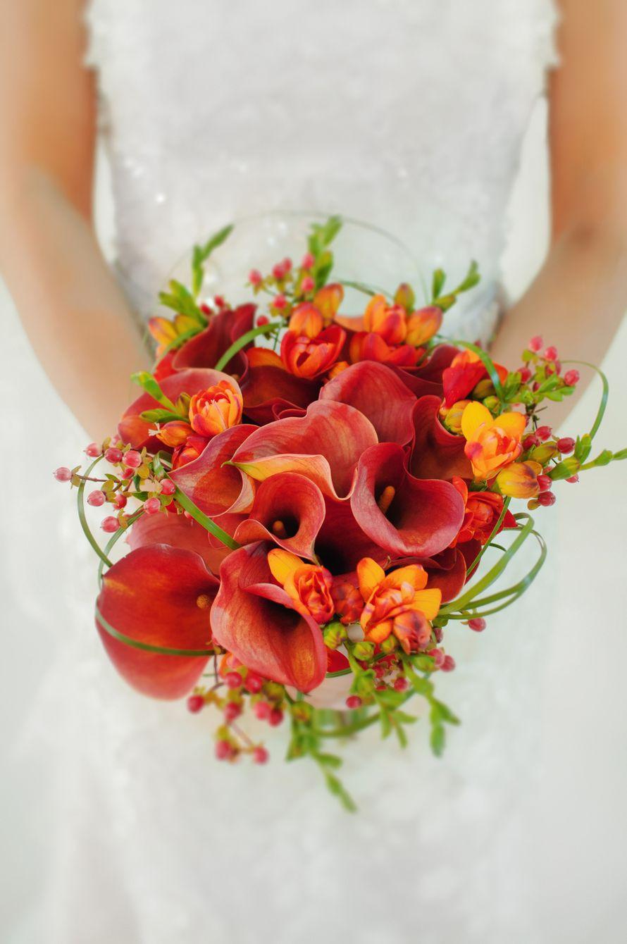 Конфет краснодаре, свадебный букет из рыжих калл своими руками