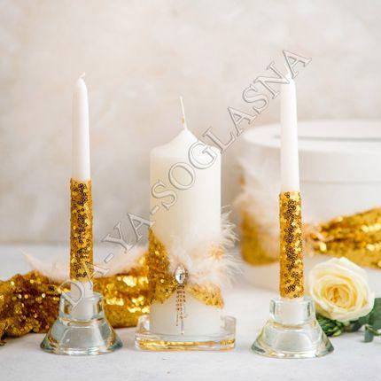 """Свадебные свечи ручной работы """"Гэтсби"""""""