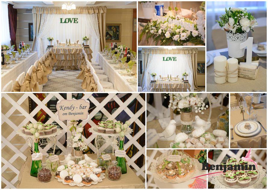 """Свадьба в стиле Рустик Парк отель """"Нежинка"""" оформление зала и сладкого стола.Полностью живые цветы! 2017"""