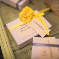 Бонбоньерки для гостей. Свадьба в сине-желтой гамме