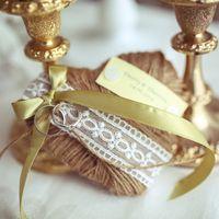 Подушечка для колец на ретро свадьбе или одно путешествие в дни минувшего детсва