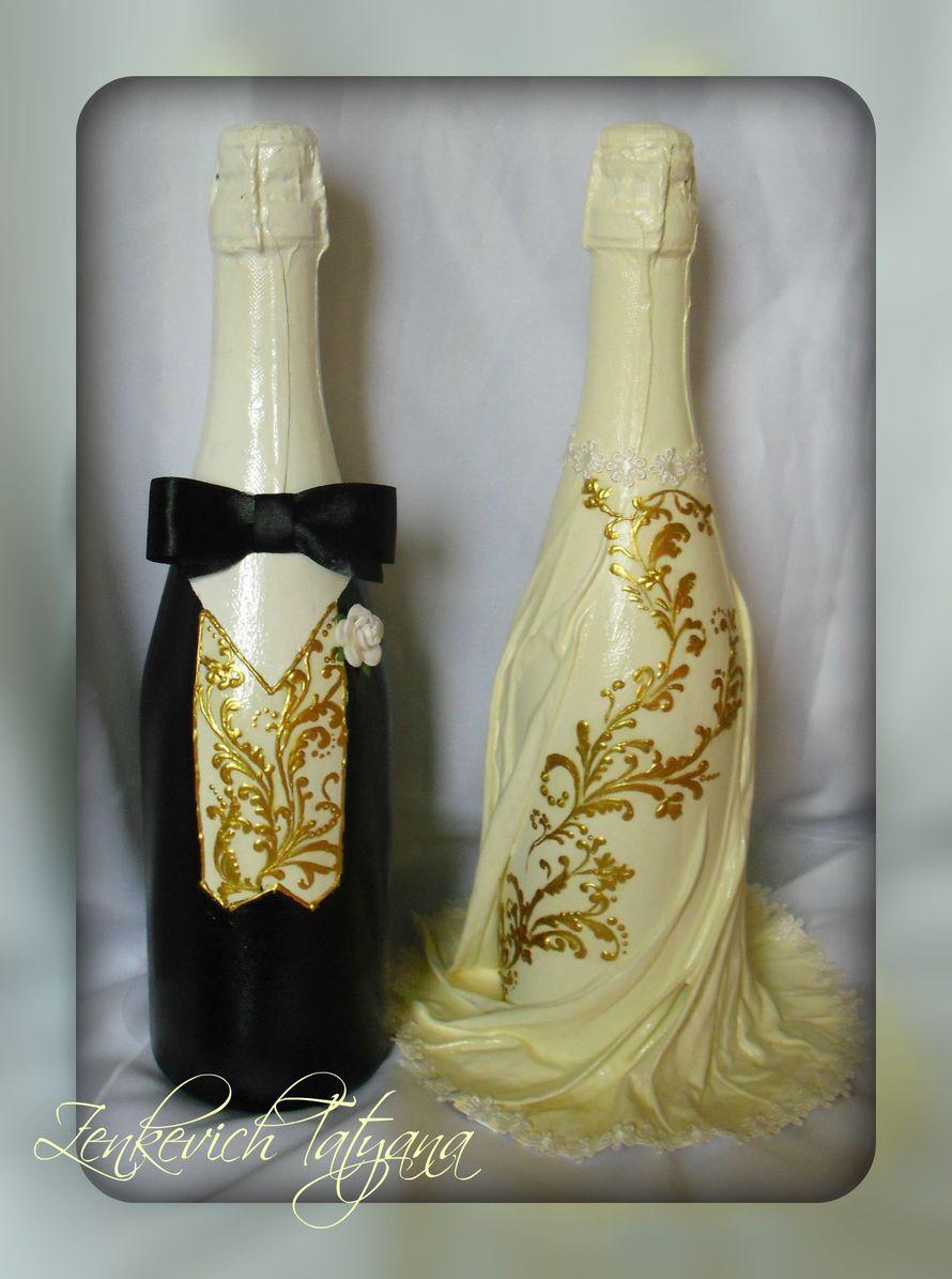 Фото 1895727 в коллекции Свадебное шампанское - Мастер Татьяна Зенькевич, аксессуары ручной работы
