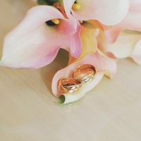 Букет невесты от LoveStory - нежно-розовые каллы