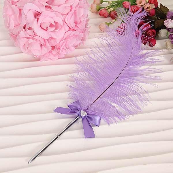 Ручка с пером для свадьбы своими руками 42