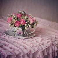 """Свадьба в стиле """"Свадебное чаепитие в саду"""" или """"РомантИк"""". Композиция сделана в подарок на 8 Марта"""