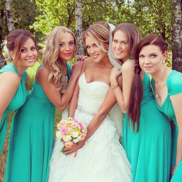 Невеста Ксения и ее прекрасные подружки невесты  - фото 3017533 Свадебный стилист Кучумова Селия