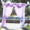 арка с бумажными цветами и кристалами