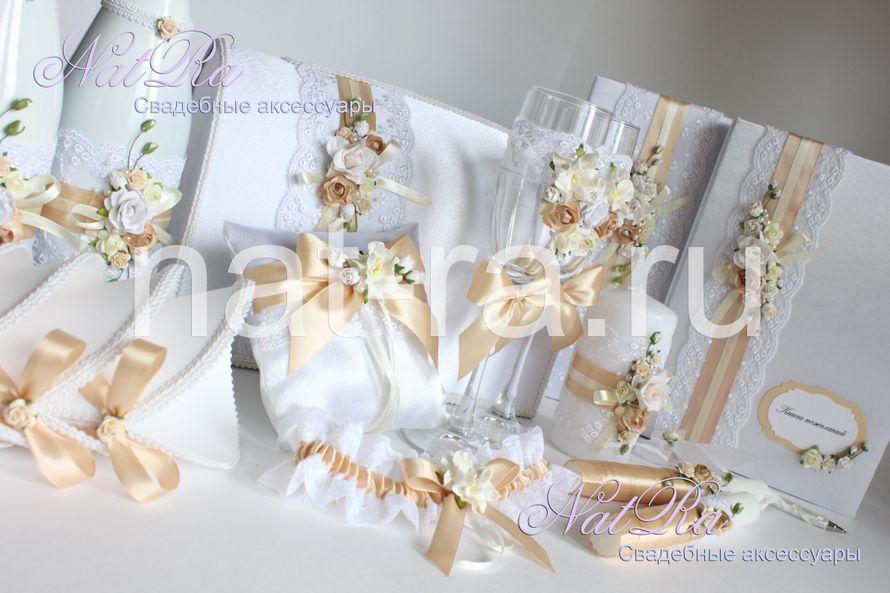 """Свадебный набор """"Цветочный"""" - фото 1925681 Студия свадебных аксессуаров """"NatRa"""""""