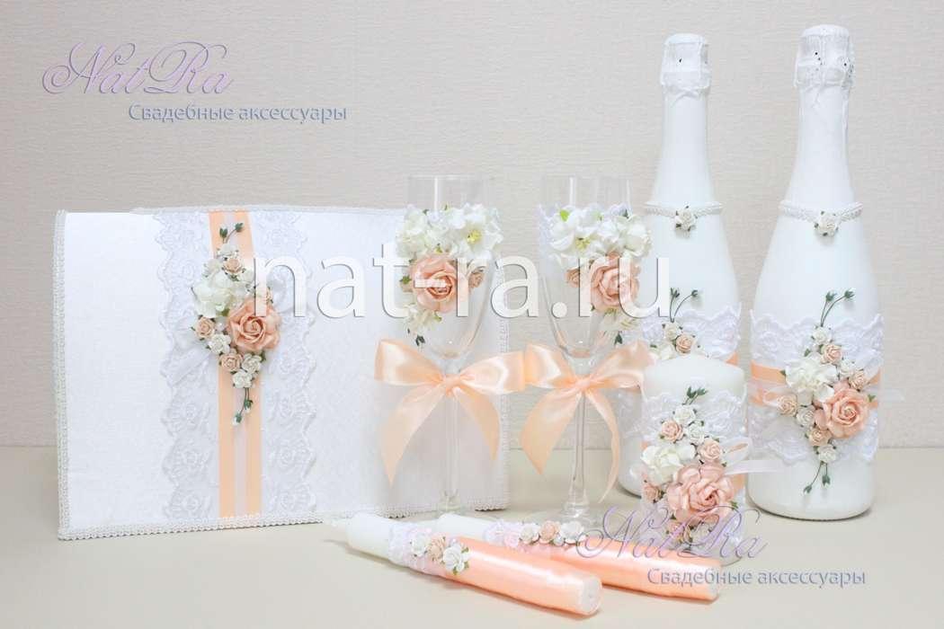 Свадебные аксессуары своими руками в персиковом цвете 8