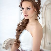 "Коса в стиле ""Рустик"" и нежный макияж, Стилист Алёна Гранд"