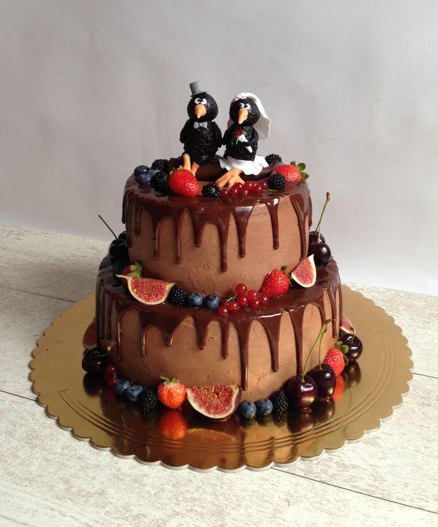 Детские шоколадные торты ярусные фото