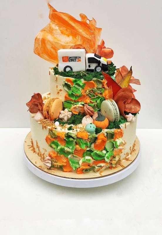 торт с фактурным кремовым покрытием и фигуркой из сахарной пасты стоимость торта 1900 р/кг стоимость 1900 Р/кг - закажите торт за 1 месяц или ранее и получите каждый 3-ий кг в подарок - фото 17665320 Sweet - кафе-кондитерская