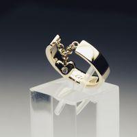Помолвочное кольцо. Копия ювелирного дома Cartier. Материал: желтое золото 585 пробы, бриллиант.