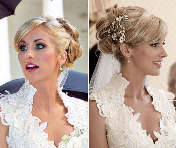 Прически на свадьбу на прямые короткие волосы