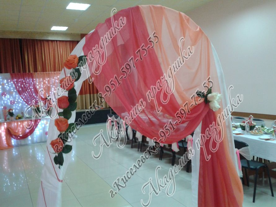 Фото 1995377 в коллекции Оформление свадебного зала - Академия Праздника - оформление свадеб