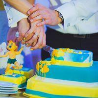 Желто-голубой торт