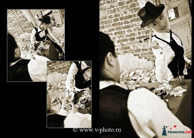 """Фото 94525 в коллекции Тематическая фотосъёмка-лавстори """"Гангстеры"""", развороты фотокниги - Свадебные фотографы StoryOfMoments"""