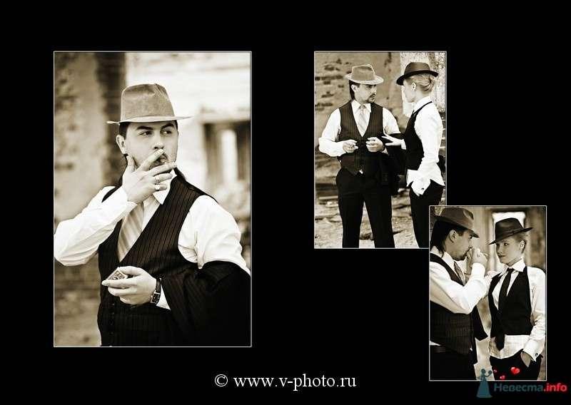 """Фото 94543 в коллекции Тематическая фотосъёмка-лавстори """"Гангстеры"""", развороты фотокниги - Свадебные фотографы StoryOfMoments"""