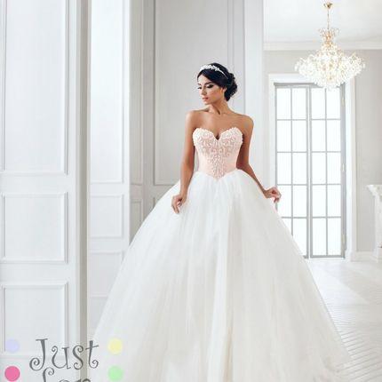 Свадебное платье MB-932 (лиф - цвет пудра)