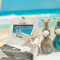 декор, песок, песоная церемония, стол, сосуды, бутыльки, ракушки, ярко